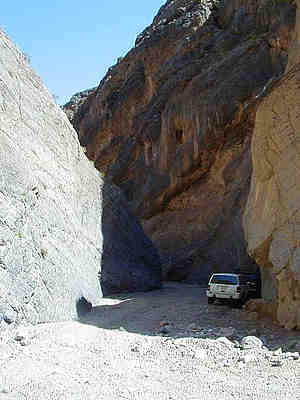 "I now know this is not Goler Wash, but it has the look of the area. Per David A. Wright, ""This might be a picture of Titus Canyon, which is in the Grapevine Range northeast of Stovepipe Wells""."