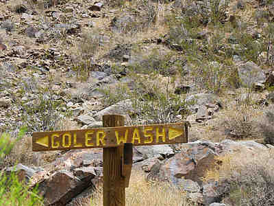 Goler Wash sign.