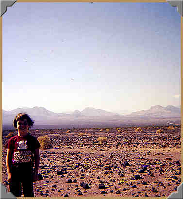 Danny, in front of the Eastern slope of the Panamint Mountains - 10/1976