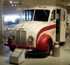 H.P. Hood & Son's milk truck